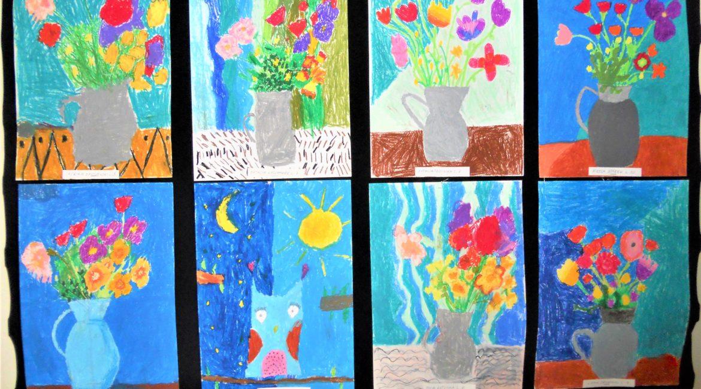 Wystawa prac dzieci z Młodzieżowego Domu Kultury 1