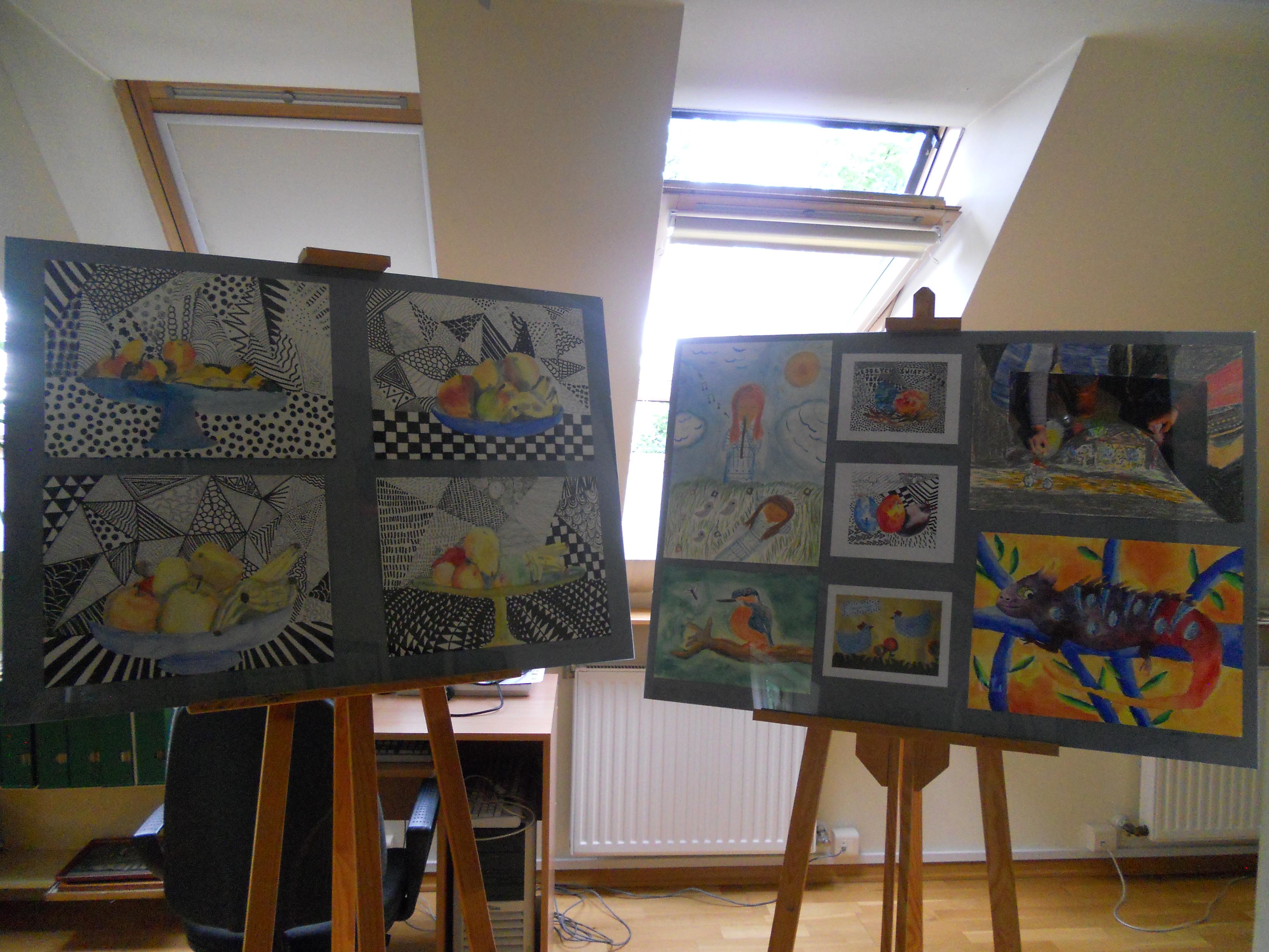 Wystawa prac dzieci z Młodzieżowego Domu Kultury 4