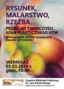 Wernisaż koła plastycznego UTW i koncert Joanny Kotowskiej 2