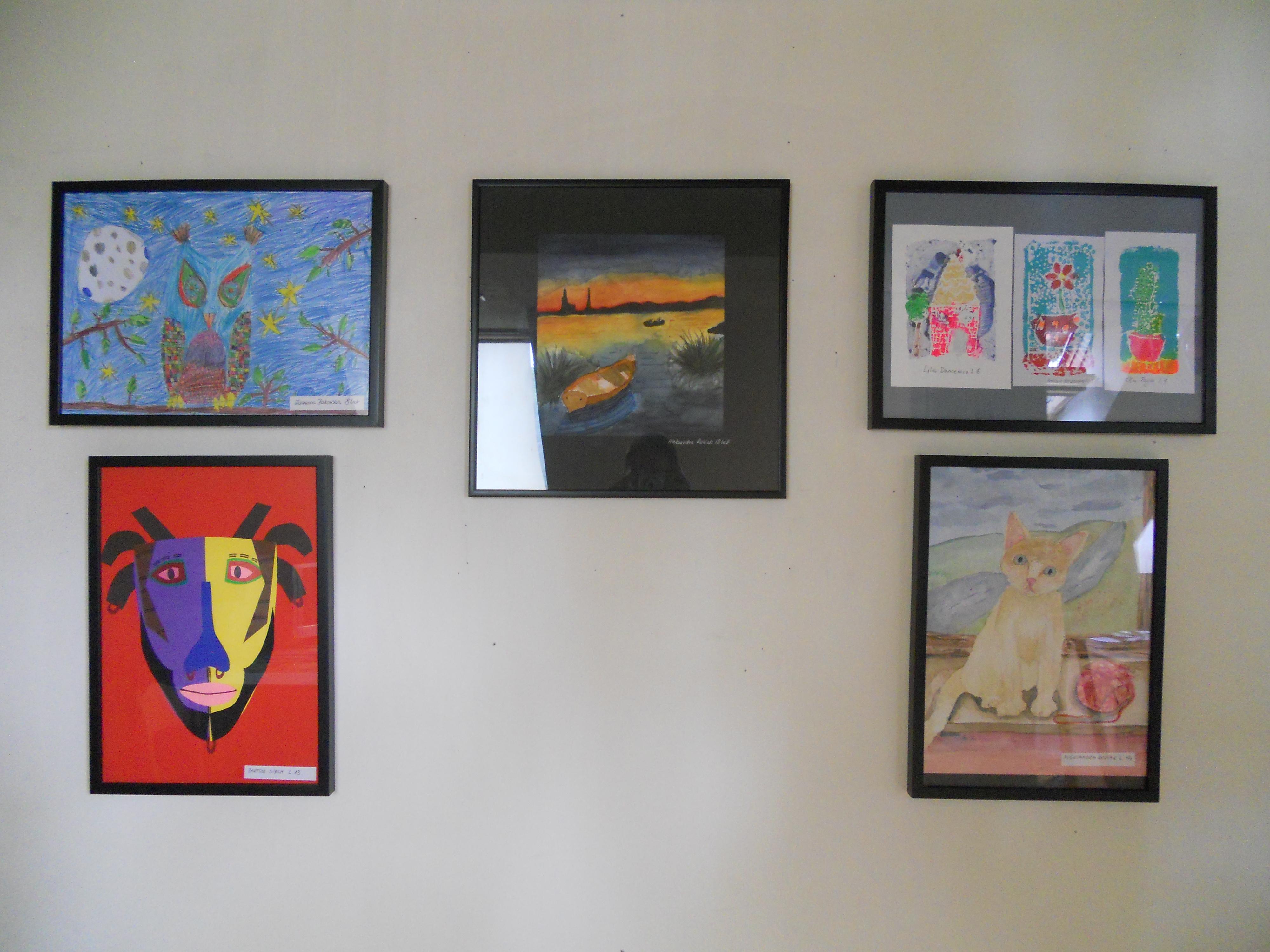 Wystawa prac dzieci z Młodzieżowego Domu Kultury 5