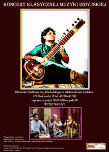Koncert klasycznej muzyki indyjskiej - 28.06.2019, godz. 18.00 2