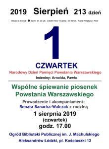 Wspólne śpiewanie piosenek Powstania Warszawskiego 2