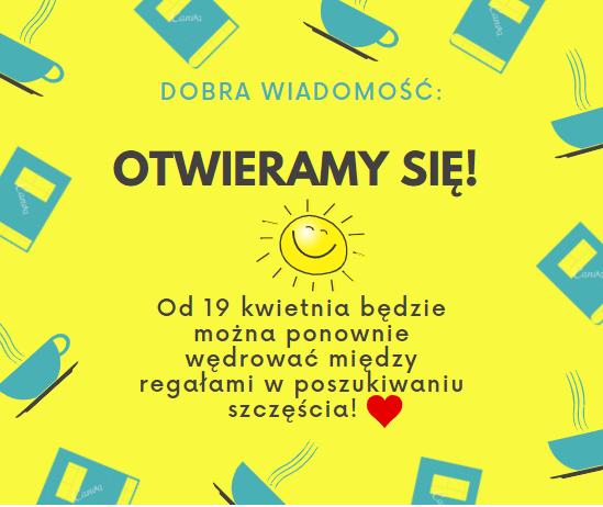 od 19 marca biblioteka będzie otwarta